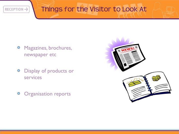 Magazines, brochures, newspaper etc