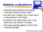 stability vs resilience