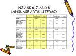 nj ask 6 7 and 8 language arts literacy