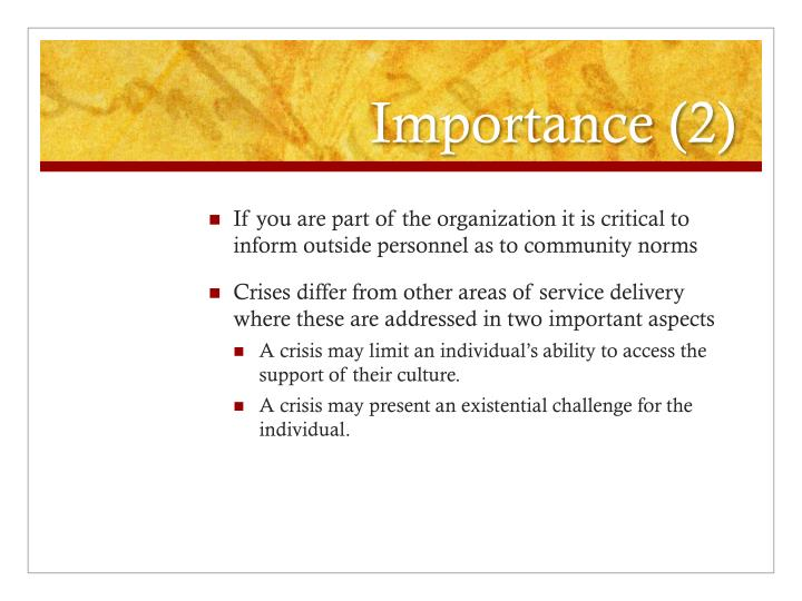 Importance 2