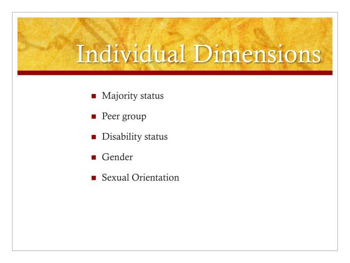 Individual Dimensions