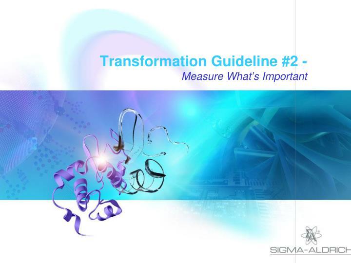 Transformation Guideline #2 -