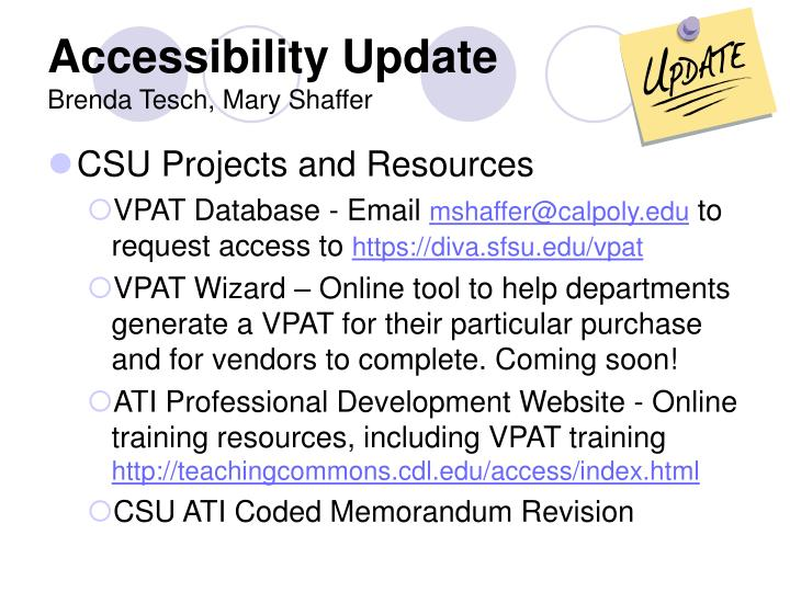 CSU Projects and Resources