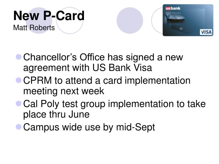 New P-Card