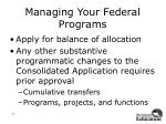 managing your federal programs4