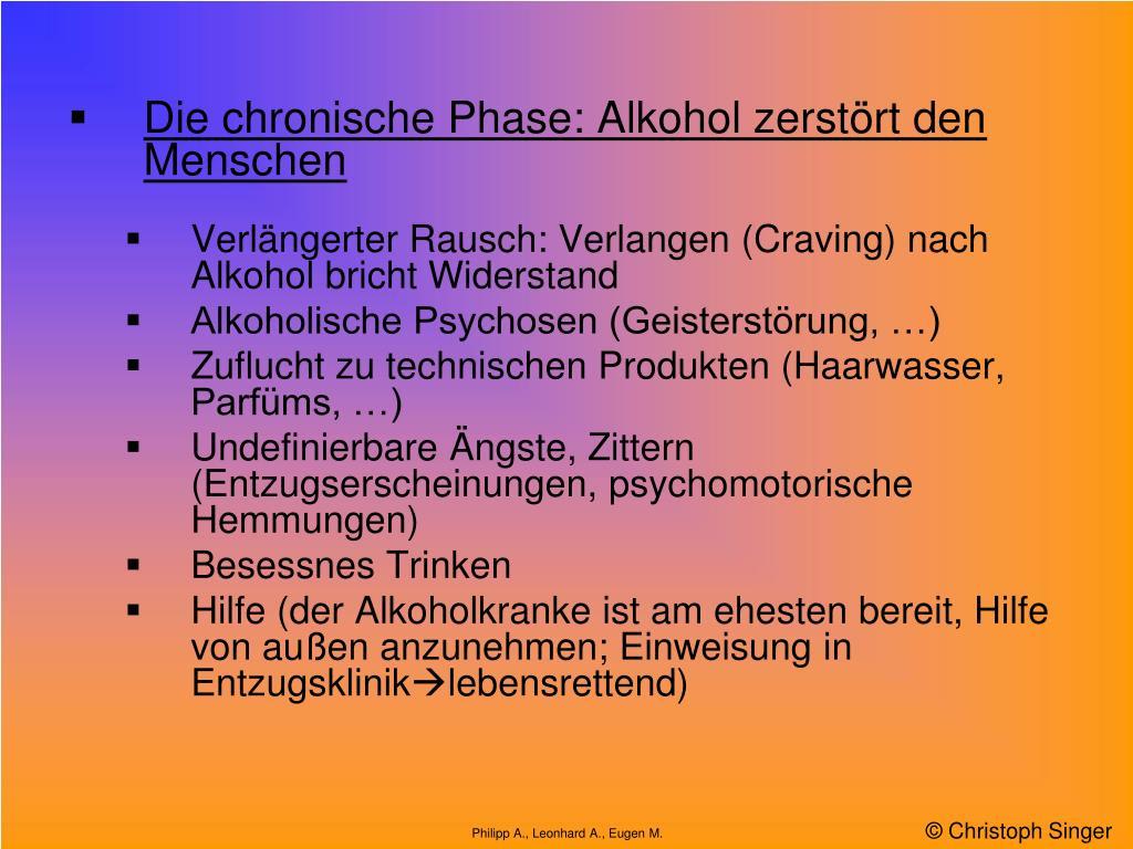 Erinnerungslücken Alkohol