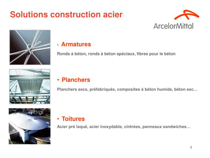 Solutions construction acier