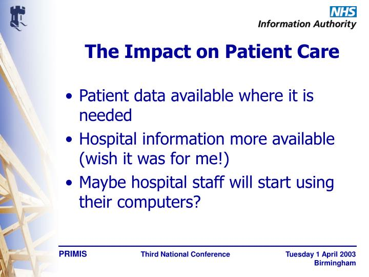 The Impact on Patient Care