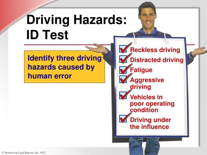 Driving Hazards: