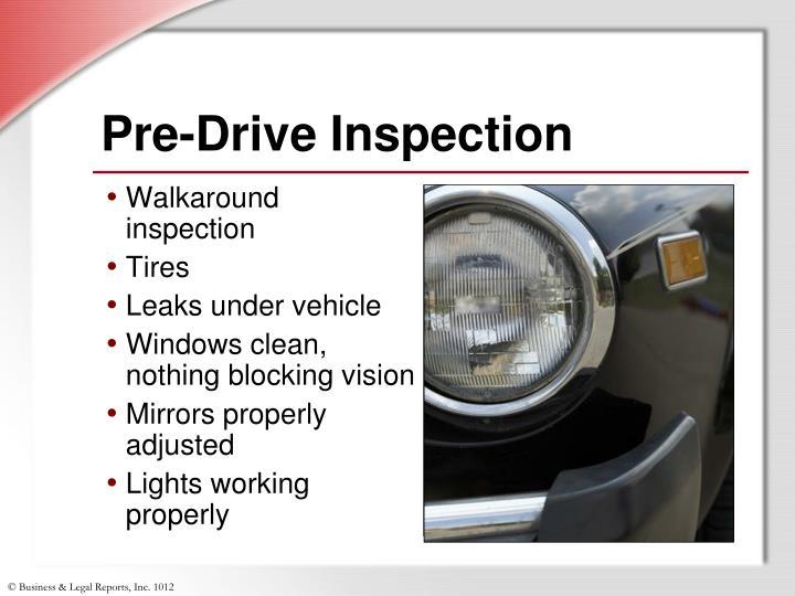 Pre-Drive Inspection