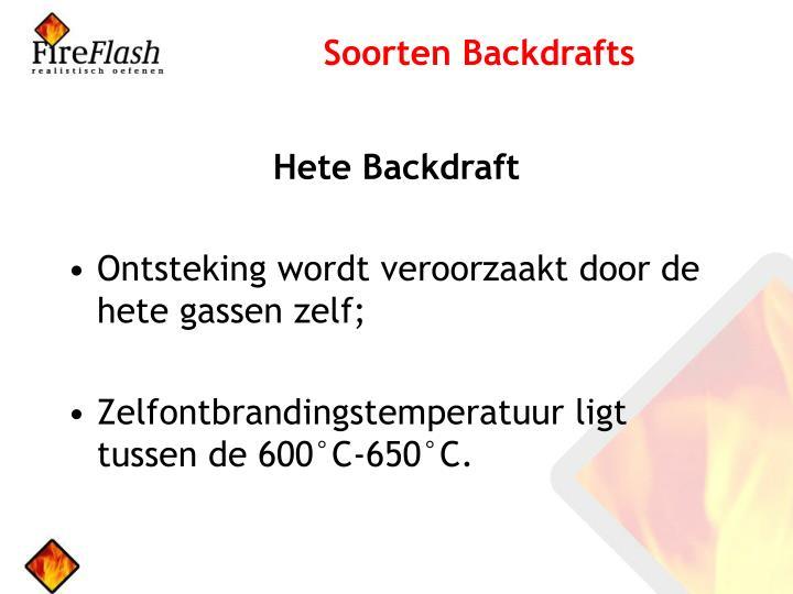 Soorten Backdrafts