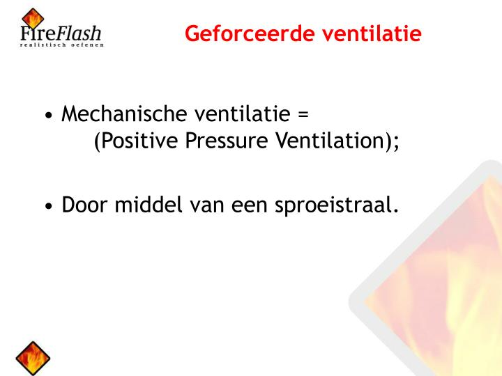 Geforceerde ventilatie
