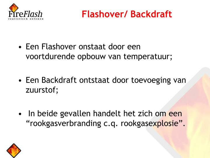 Flashover/ Backdraft