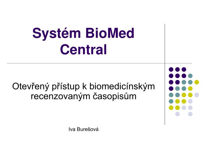 Syst m biomed central