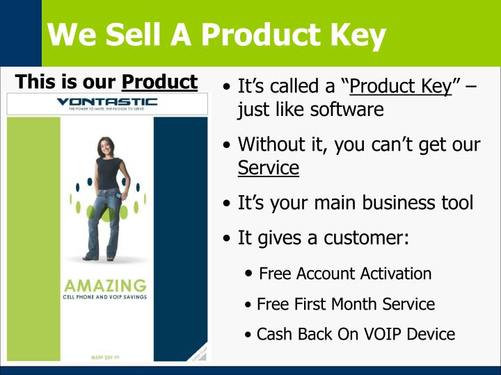We Sell A Product Key