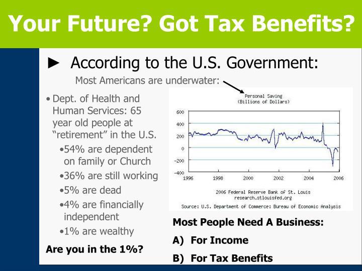 Your Future? Got Tax Benefits?