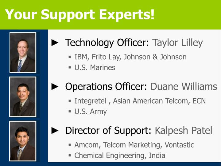 Your Support Experts!