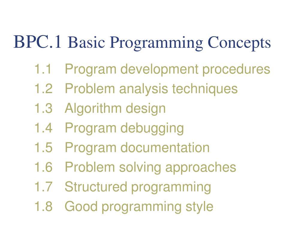 Basic programming concept.