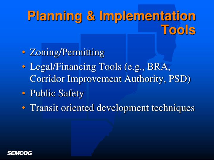 Planning & Implementation Tools