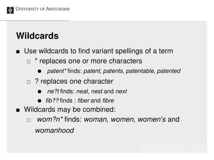 Wildcards