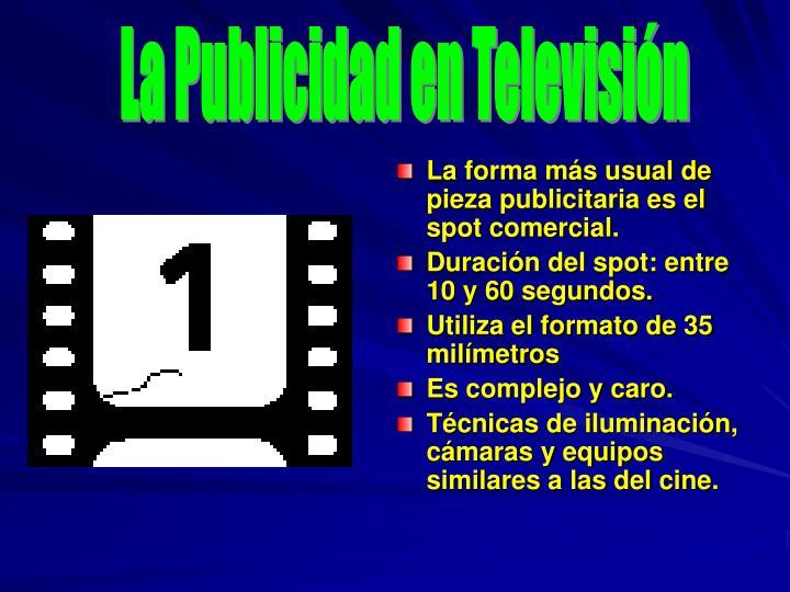 La Publicidad en Televisión