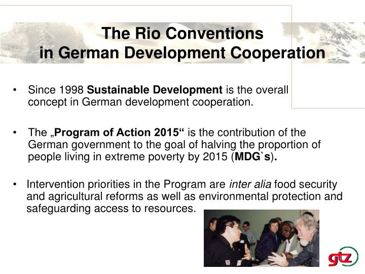 The rio conventions in german development cooperation