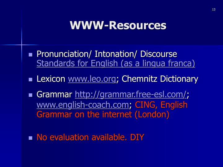 WWW-Resources