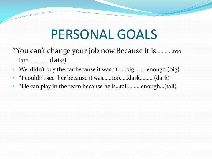 Personal goals1