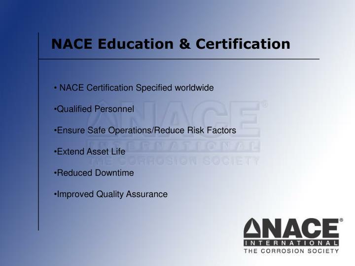 NACE Education & Certification