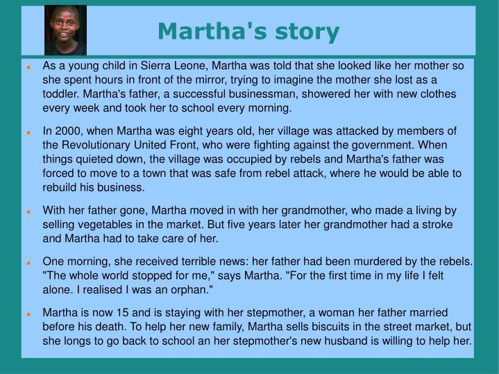 Martha's story