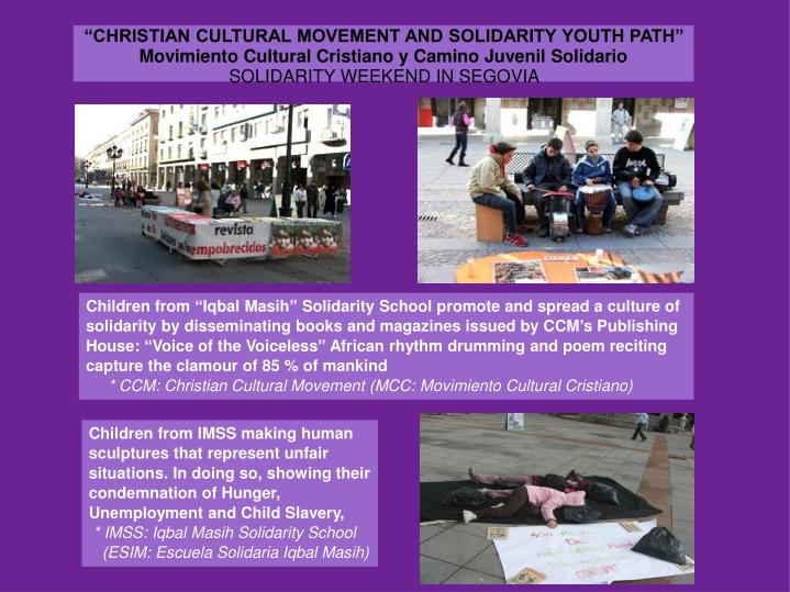 """""""CHRISTIAN CULTURAL MOVEMENT AND SOLIDARITY YOUTH PATH"""""""