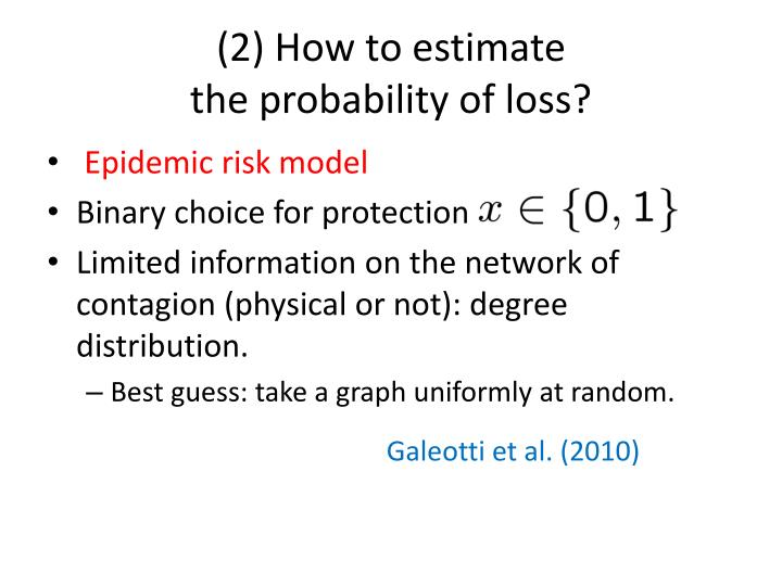 (2) How to estimate