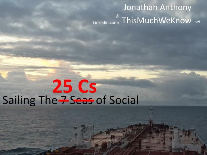 Sailing the 7 seas of social