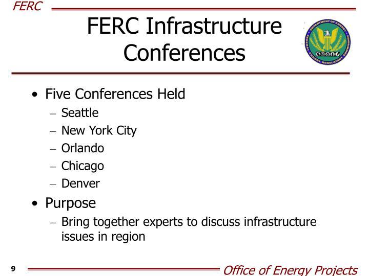 FERC Infrastructure Conferences