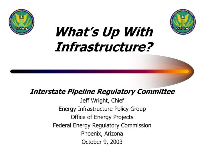 What s up with infrastructure