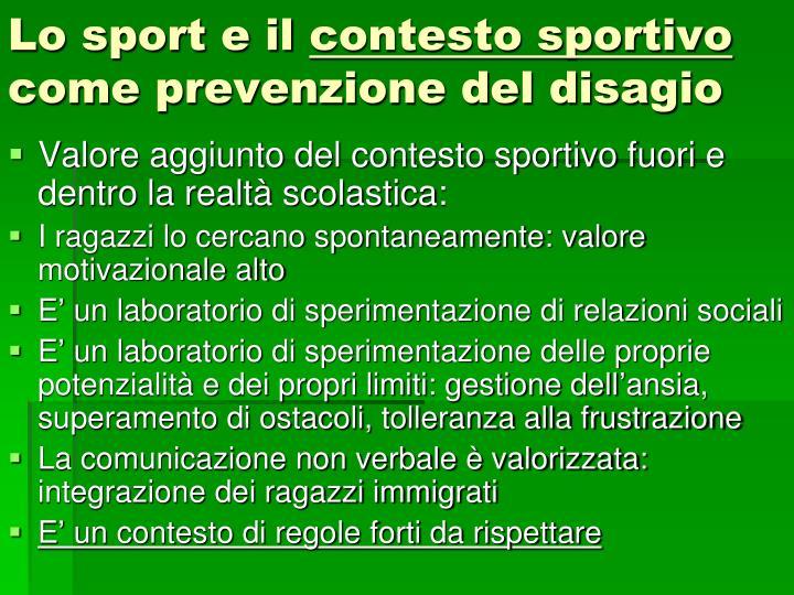 Lo sport e il