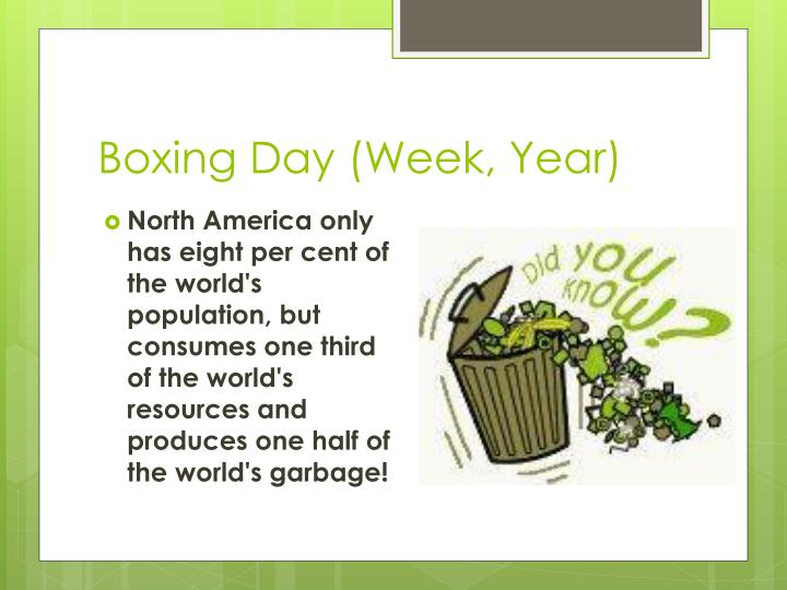 Boxing Day (Week, Year)