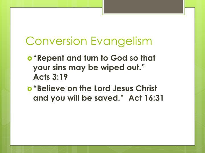 Conversion Evangelism