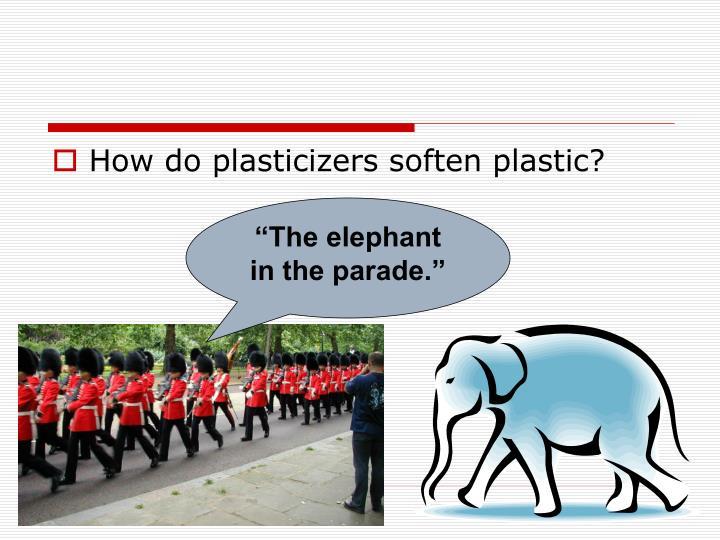 How do plasticizers soften plastic?