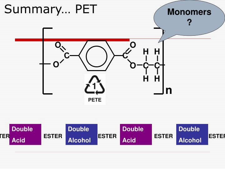 Monomers?