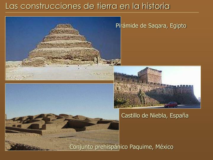 Las construcciones de tierra en la historia