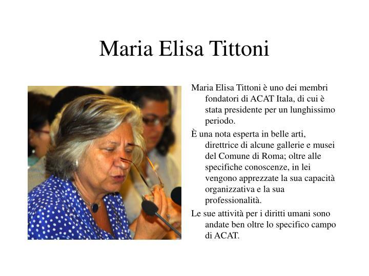 Maria Elisa Tittoni