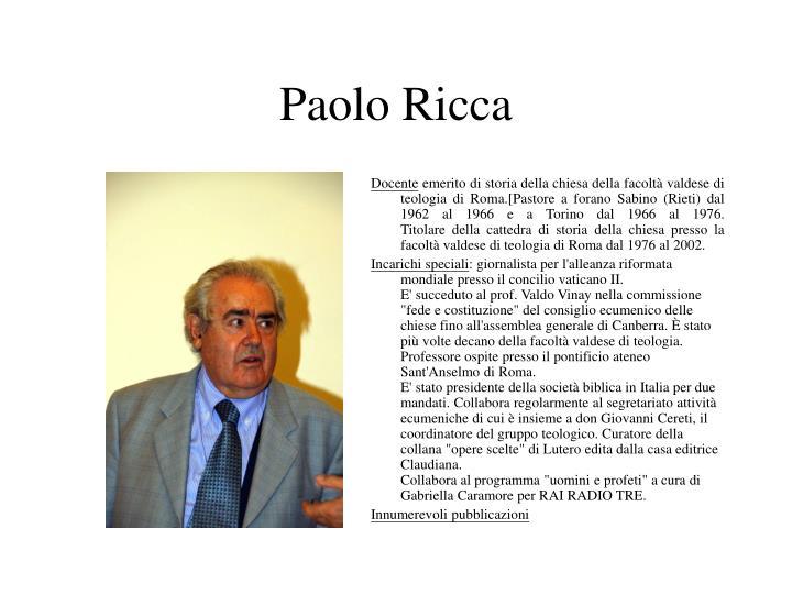 Paolo ricca