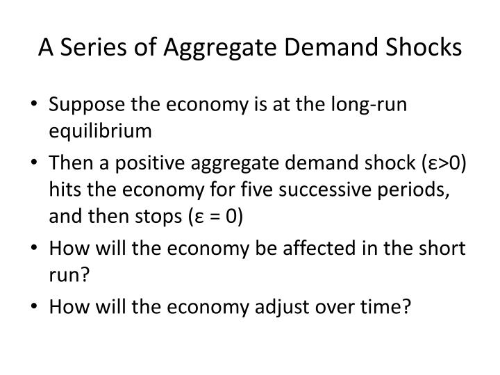 A Series of Aggregate Demand Shocks