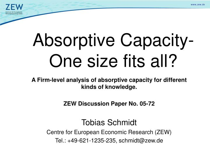 absorptive capacity one size fits all n.
