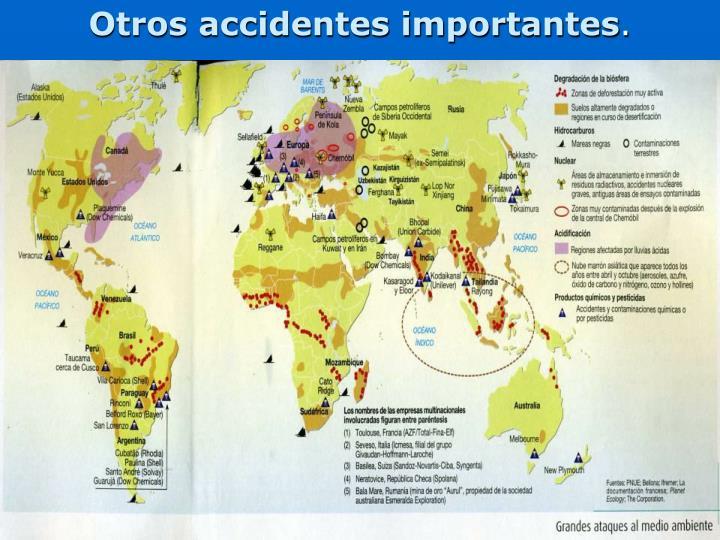 Otros accidentes importantes