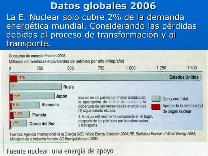 Datos globales 2006
