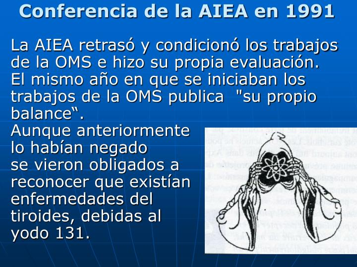 Conferencia de la AIEA en 1991