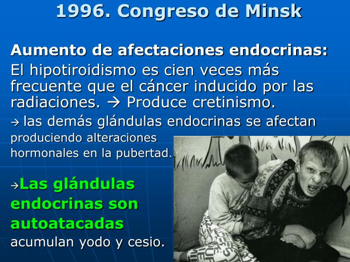 1996. Congreso de Minsk