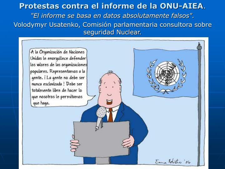 Protestas contra el informe de la ONU-AIEA